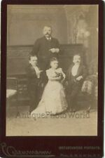 Circus performers midgets with Chihuahua dog antique cabinet photo Eisenmann