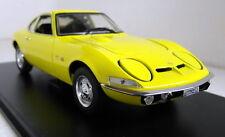 Atlas 1/24 Scale Opel GT 1900 1970 Yellow + Display Case Diecast model car