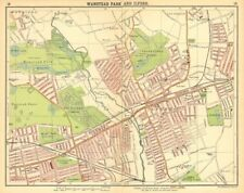 LONDON NE. Wanstead Ilford Manor Park Seven Kings Wood Grange 1921 old map