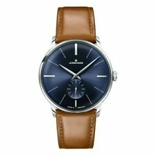 Junghans Meister Hand-Wound Blue Dial Leather Strap Men's Watch 027/3504.00
