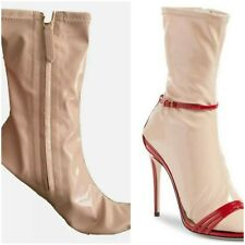 Iconic Gucci Nude Latex Sock Boot. Sz 37. Unworn. Turn your sandals into boots