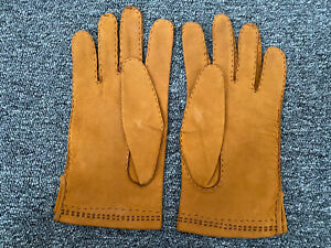 VINTAGE Gloves Real Tan SUEDE super soft-UNUSED- MENS FASHION ACCESSORIES.