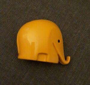 Elefant Spardose gelb Dresdner Bank 6,5cm hoch