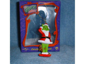 GRINCH w DOG MAX CHRISTMAS ORNAMENT DR SEUSS - COLLECTOR ORNAMENTS FIGURE