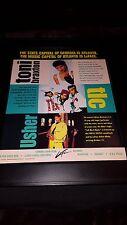 Toni Braxton, Tlc, Usher Rare LaFace Original Promo Poster Ad Framed!