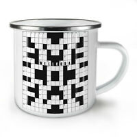 Crossword Wellcoda NEW Enamel Tea Mug 10 oz | Wellcoda