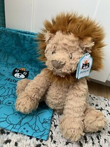 Fuddle Wuddle Lion Jellycat Medium New With Tags And Bag Excellent Condition