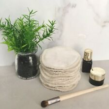 Unbleached Bamboo Reusable Makeup Remover Cotton Facial Rounds Eco Friendly Wipe
