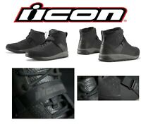 Icon Racing Adult Superduty 5 Motorcycle Shoes Black Choose Sizes 7-14
