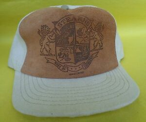 Stearns Boat Covers Life Jackets vintage Snapback cap 1980s Fishing Hat Leather