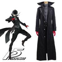 Persona 5 P5 Joker Ren Amamiya Akira Kurusu Cosplay Costume Outfit Coat Full Set