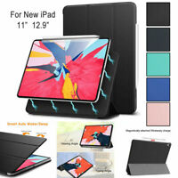 For iPad Pro 12.9 11 inch 2018 2020 Case Leather Pencil  Magnetic Cover