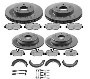 MERCEDES VITO W639 BRAKE DISCS AND PADS FRONT & REAR SHOES LEADS FITTING KIT
