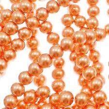 1 Strand 4mm Dark Salmon Pearl Glass Pearls 216 Beads