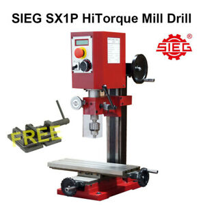 SIEG SX1P HiTorque Mill / 250W HiTorque Brushless Motor / 400x145mm Worktable