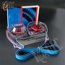 Cam Pulley + Timing Belt + Clear Cover For Nissan Skyline R32 R33 GTS RB25DET RD