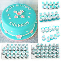 DIY Number Letter Fondant Cutter Stamp Mould Cake Cookie Decorating Baking Mold