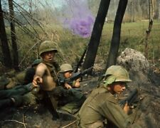 Vietnam War American Soldiers Under Fire Historical Military History Photo