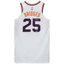 MIKAL BRIDGES Autographed Game-Used (1/2/19) Phoenix Suns White Jersey FANATICS