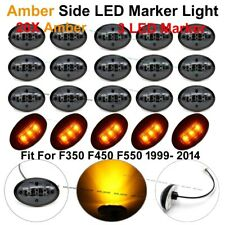 20X Black Smoked Amber Side Marker Fender Dually Bed Lights For Ford F350 99-10