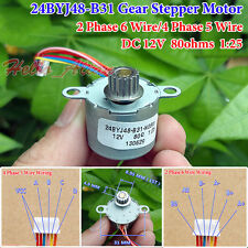 24BYJ48 DC12V Gear Reduction Stepper Stepping Motor 4 Phase 6 Wire With 15T Gear