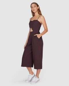 Element BNWT Around Town Playsuit Women's Size 12 Plum Jumpsuit