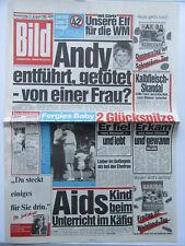 Bild Zeitung 11.8.1988, Rod Stewart, Jacqui Bell,