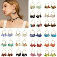Fashion Natural Stones Ring Drop Dangle Ear Stud Earring Women Jewelry Statement