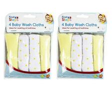 Paquete De 8 paños de lavado de Limón Bebé Suave Franela Toalla 0 meses +