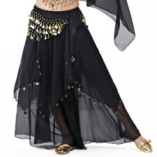 Belly Dance Chiffon Dress with Coins Full Circular Skirt Tribal Gypsy Costume