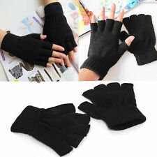 Thermal Men Ladies Boys Women Black Half Figure Magic Grip Gripper Gloves