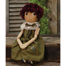 Primitive BECKY DOLL Country Farmhouse Fabric Folk Art Collectible Farmhouse Rag