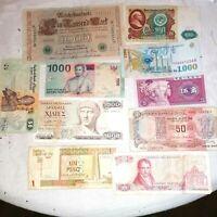 10 Billets monde lot #23