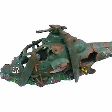 XL Helicopter Aquarium Ornament Over 29 Inches Long