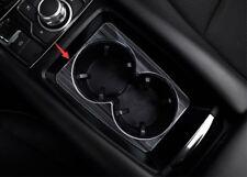 Black titanium Water cup holder panel decorative box For Mazda 3 Axela 2017 2018