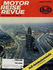 Motor Reise Revue 2 1979 Porsche 924 Berlin Daihatsu Charade Mitsubishi Colt