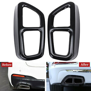For BMW  5 Series  G30 G31 2017 2018 Exhaust Tailpipes Pipe Tip Cover Trim Black