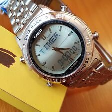 RELOJ CASIO VINTAGE ABX-600 DATA BANK TWINCEP WATCH NUEVO NOS NEW MONTRE UHR