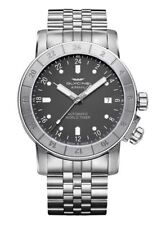 Glycine Men's 3954.101.MB Airman 42 Automatic Purist 42mm Gray Dial - GL0139