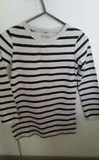 Next Jumper Tunic Top Navy Stripes Age 7 yrs 100% Cotton FREE POSTAGE
