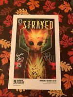 Dark Horse STRAYED #1 SIGNED Lithograph Giffoni Doe NYCC 2019 w Original Art