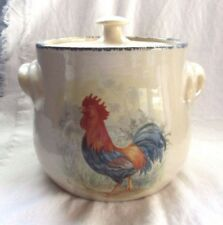 HOME AND GARDEN STONEWARE  LARGE  COOKIE JAR  CHICKEN ROOSTER