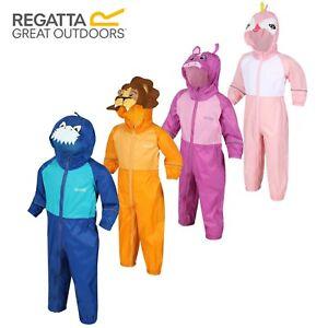 Regatta Puddle Charco Kids Boys Girls Waterproof All In One Rain Suit RRP £40