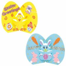 BUNNY & CHICK Make Your Own 3D COLOUR IN Kids POP UP EASTER Cards Craft Design