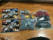 Lego Star Wars Republic Frigate 7964 minifigures and instruction books no box