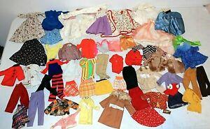Large 60-pc Lot Vintage Mod 1960s BARBIE Ken Clothes Clothing, Mattel & Others
