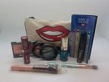 Ipsy 10 Pc Mixed Makeup lot for Lips~Cheeks~Eyes~Brows~Nails~Brushes~June Bag
