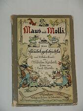 """Buch Maus und Molli von 1925 """"Mädelgeschichte"""" nach Wilhelm Busch von W.Herbert"""