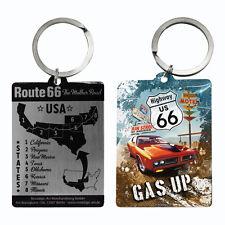 NOSTALGIE Schlüsselanhänger ROUTE 66 - GAS UP m. bedruckter Rückseite NEU OVP
