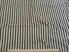 """Thermal Weave White with Black Pin Stripes Stretch Fabric Per Yard x 50"""""""